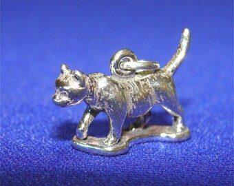 Walking CAT Charm Shorthair in STERLING Silver USA Made