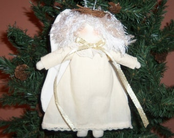 Christmas Angel Ornament, Country Angel Doll, Angel Tree Ornament, Country Decor