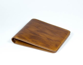 Mens Leather wallet, leather wallet, Bifold leather wallet, brindle pattern