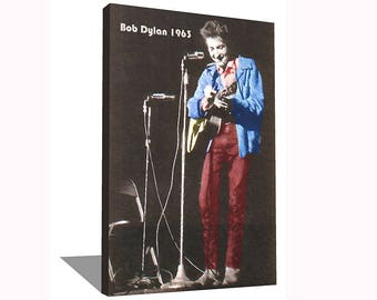 Bob Dylan 1963 100% Cotton Canvas Print Using UV Archival Inks Stretched & Mounted
