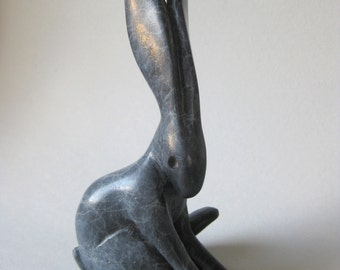 """Bronze Arctic Hare 'contemplation"""" made to order allow 4 to 6 weeks"""