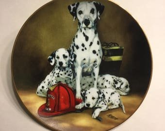 "Dalmatian Collector Plate ""The Fire Brigade"""