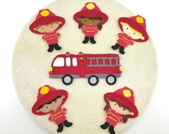 Quiet Learning Montessori Toy, Firefighter Felt Board, Learning Activity Gift, Felt Activity Quiet, Pre school Quiet Activity, Felt Activity