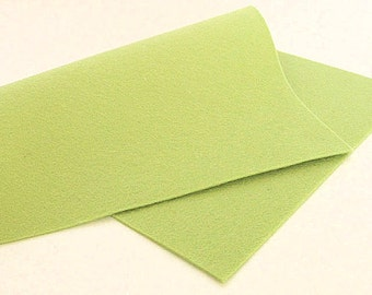 "8"" x 12"" Avocado 100% Merino Wool Felt Sheet"
