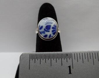 Vintage Sterling Silver Pottery Shard Ring / FDM