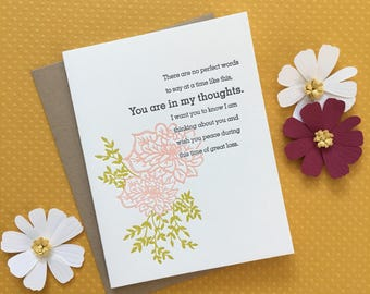 In My Thoughts Letterpress Card