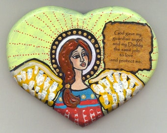 Another Original collage Angel Valentine Heart for Dad