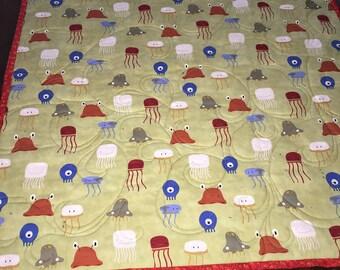Stroller/Car Seat quilt baby sea creatures