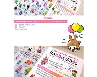 Stickers Rabbit Girls SM212532