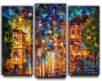 Wonderful Set Of 3 Oil Paintings, Three Panels Art, Triptych Wall Art On Canvas By