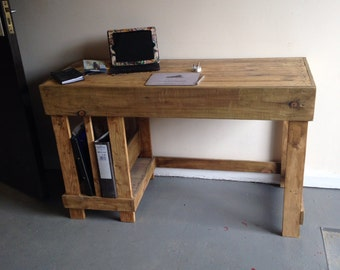 Office desk made from reclaimed wood