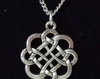 Antique Silver Celtic Knot Necklace