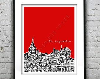 St. Augustine Florida Poster Print Art Item T1200