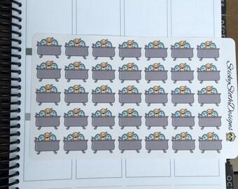 Dog Bath (35 Planner Stickers)