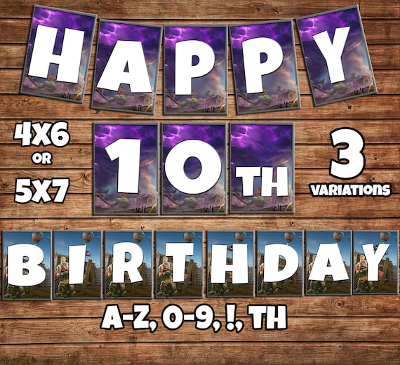 Fortnite Birthday Invitations Free Download