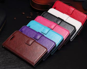 iPhone 5  5s 5se 6 6s 7 7 Plus + 8 8 Plus + & iPhone X 10 Brand New PU Leather Pouch Flip Cover Wallet Phone Case