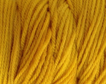 Cab Yellow Worsted Weight Hand Dyed Merino Wool Yarn