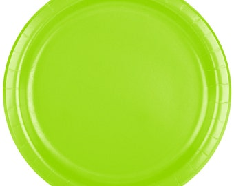 25 (7 ) Lime Green Round Paper Plate Wedding Supplies Wedding Wedding Decor Plastic Plates Party Supplies Paper Plates Wedding  sc 1 st  Etsy & Lime green plate | Etsy