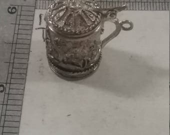 Used .800 sterling silver  Mini Me Beer Stien Cheap drunk 6.3 grams
