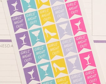 Night Out Planner Stickers - Cocktail Planner autocollants-parfait 30 girls' dans votre agenda quotidien, Erin Condren, calendrier mural ou scrapbook