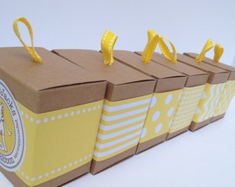 Yellow Paper Ribbon in your choice of Pattern