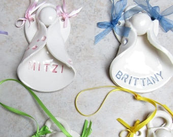 Personalized Angel Ornament, Guardian Angel, Remembrance Gift, Keepsake Gift, Sympathy Gift