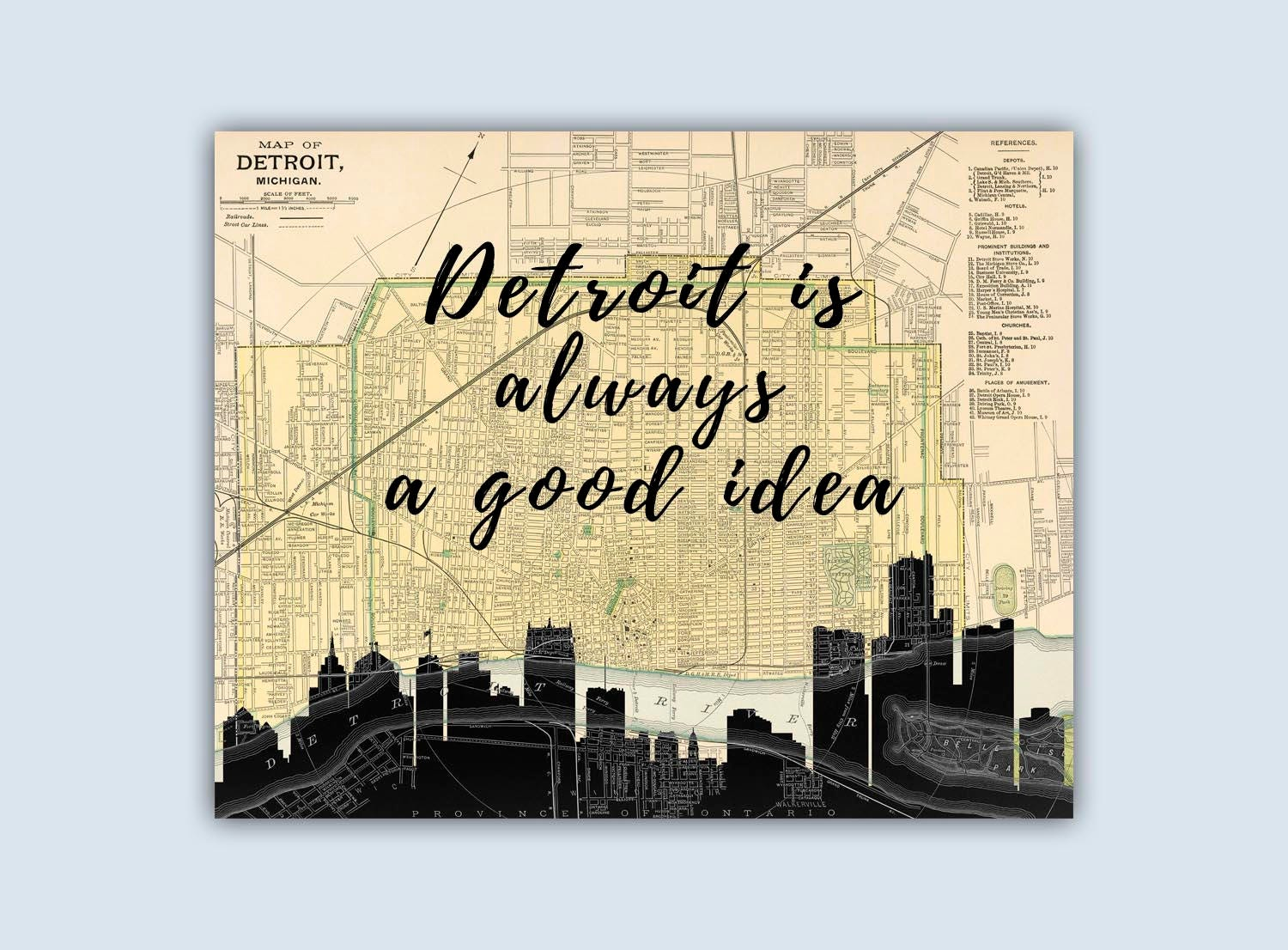 Outstanding Detroit Wall Art Component - The Wall Art Decorations ...