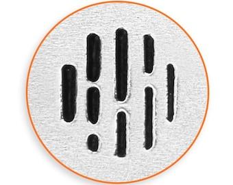 6mm Vertical Line Texture Metal Stamp, ImpressArt Texture Design Stamp, Impress Art Stamps, Use w/ Texture Stamper, DIY Jewelry, Stamping