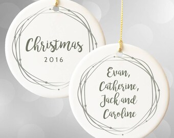 Personalized Ornaments, Family Christmas Ornament, Christmas 2017, Name Ornament for Family, Custom Ornaments