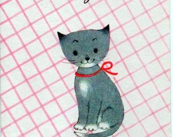 Blank kitten card, For You, from Fravesi Lamont, Inc. good shape, c1970s