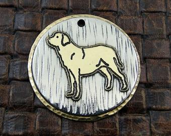 Labrador Standing- ID Dog Tag, Custom Dog Tag, Personalized Labrador Dog Collar ID Tag