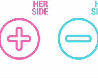 """Printable Art """"Her SIDE /His side""""-Bedroom print-Wall print-Bedroom wall decor-Bedroom printable art-Cute wall print-prints for me and you"""