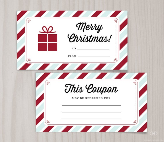 items similar to blank printable coupons  blank christmas
