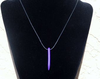 Purple howlitebeaded spike necklace