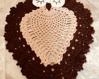 Owl crochet rug