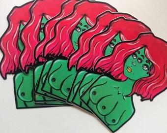 Triple Boobies Die-cut Stickers