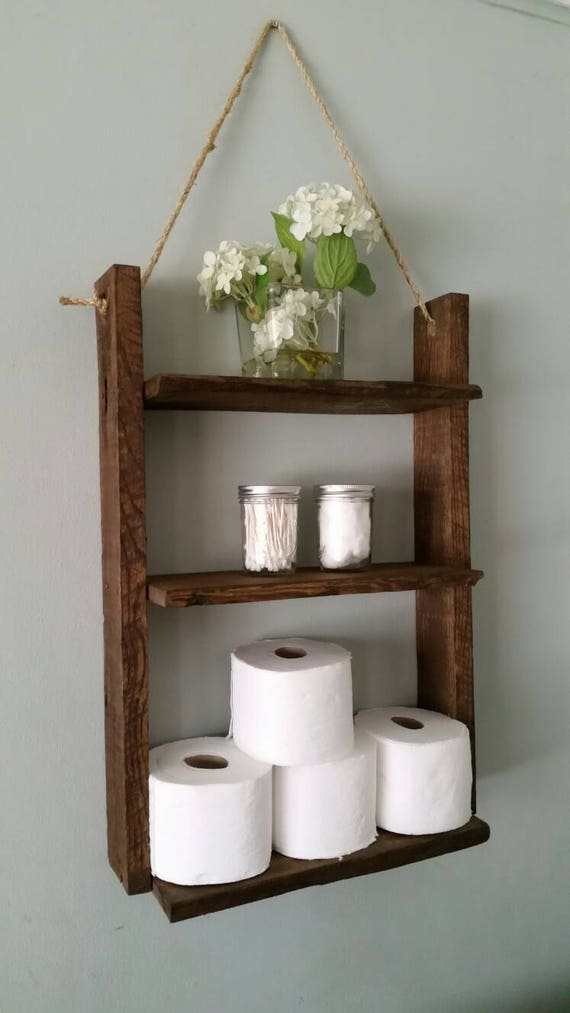 Rustic Ladder Shelf Rustic Wood And Rope Ladder