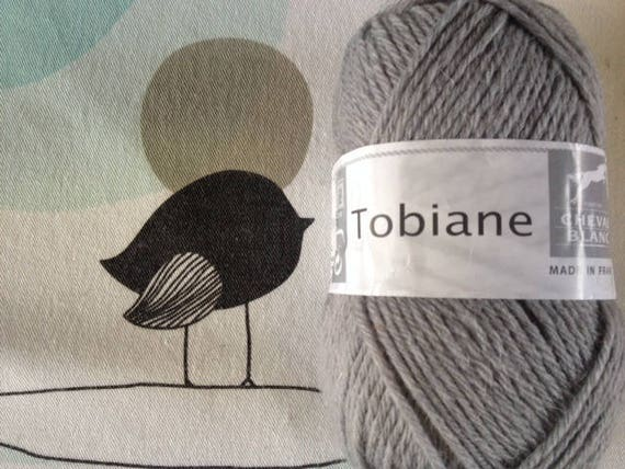 WOOL grey TOBIANE - white horse