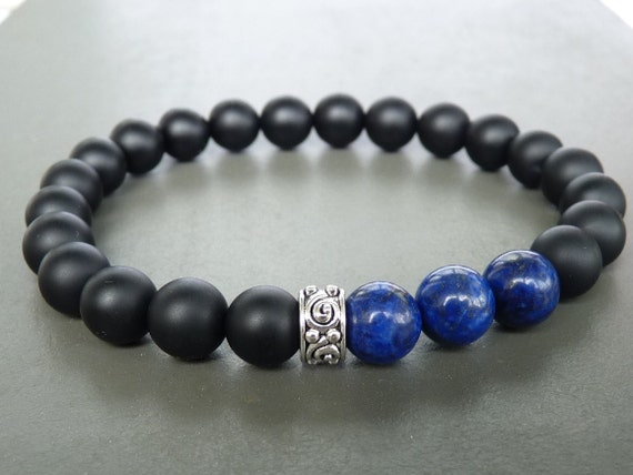 gold silver guides get rose matte deals bracelet cheap onyx black head mens lion women on quotations shopping bead find