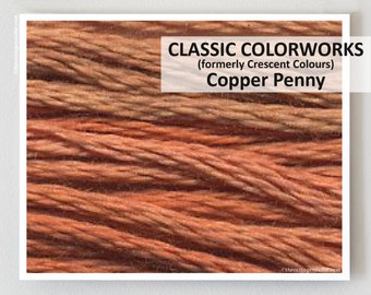 COPPER PENNY Classic Colorworks hand-dyed embroidery floss cross stitch thread at thecottageneedle.com