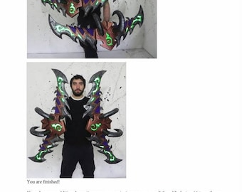 How to make demon hunter warglaives World of Warcraft complete tutorial cosplay prop