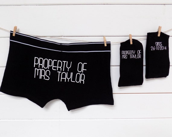 Personalized Wedding Gifts For Groom: Personalised Groom Gift Set Socks & Underwear Property Of