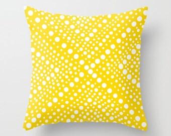 OUTDOOR Throw Pillow . Yellow Outdoor Pillow Cover . White Modern Geometric Outside Pillow . 16 18 20 inch Yellow Throw Pillow Patio Cushion