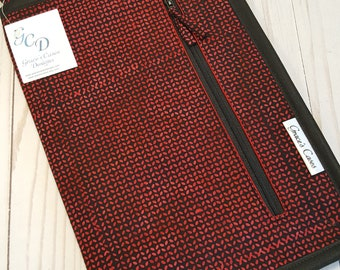 Anything Goes case in Red and Black Batik Knit