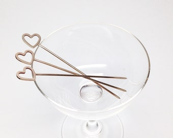 Cocktail Picks by Sarah Cecelia Cocktail pins Heart cocktail picks Craft cocktails