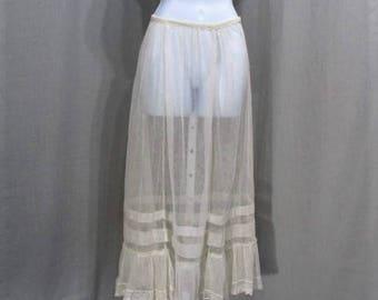 Victorian Edwardian Lace Petticoat Slip c.1900 Victorian Lingerie Edwardian Bridal Lingerie S
