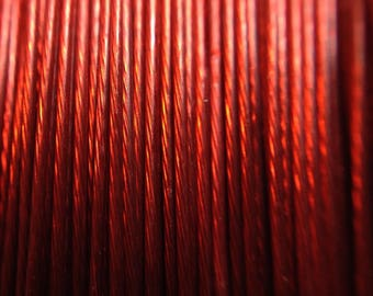 Red wired metal reel 50 m /13/ lot 0.45 mm wire