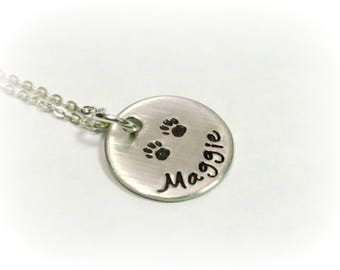 Personalized Dog Necklace Custom Dog Lover Jewelry Personalized Hand Stamped Necklace Dog Jewelry Customized Dog Necklace