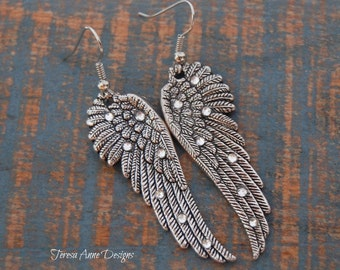 Sparkling Angel Wing Earrings