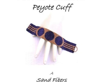 Peyote Pattern - Art Deco Medallions Peyote Cuff / Bracelet - A Sand Fibers For Personal Use Only PDF Pattern - 3 for 2 Savings Program